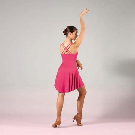 Robe de danse courte pour enfant à bretelles avec double croisé dans le dos différents coloris - SHEDDO