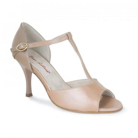 BL07 - Rosso Latino - Chaussure de danse en cuir couleur chair