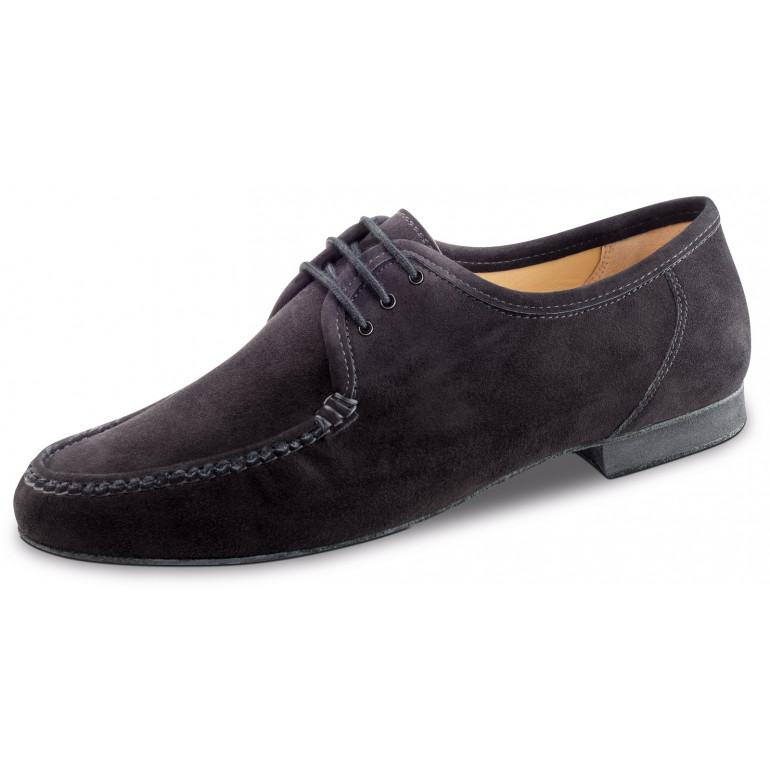 28054 Werner Kern - Chaussures de danse pour homme style mocassins en nubuck noir
