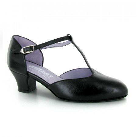 EVA Merlet - Chaussures de danse basse en cuir noir
