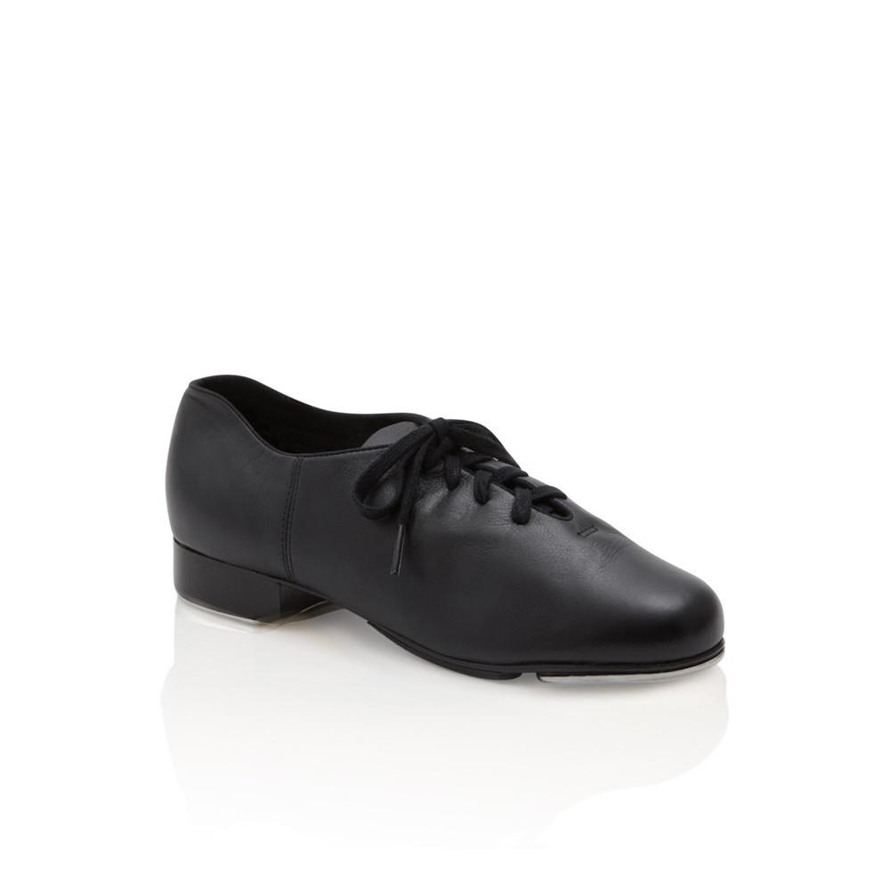 Chaussures de claquette unisex en cuir noir et fer pour enfant - Cadence - Capezio