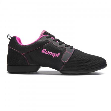 Mojo - Sneaker de danse respirante et bi-semelle noir et rose - Rumpf