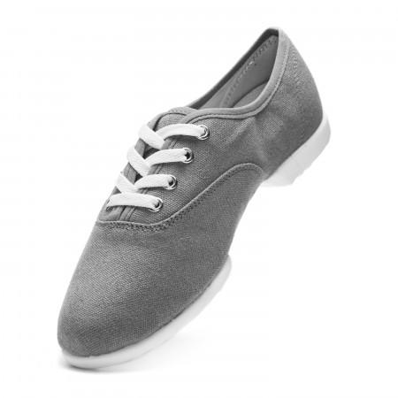 Bee - Chaussure de danse en toile grise à semelle partagée - Rumpf