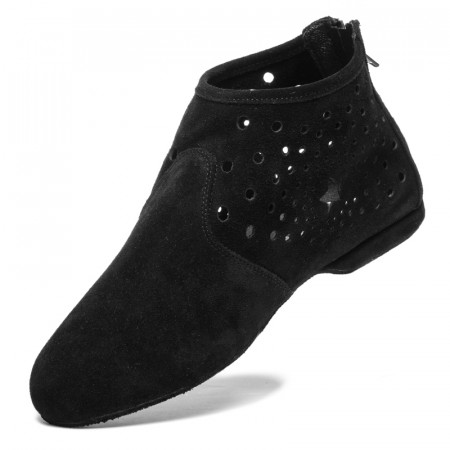 Bottines de danse de west coast swing en cuir nubuck noir - Rumpf