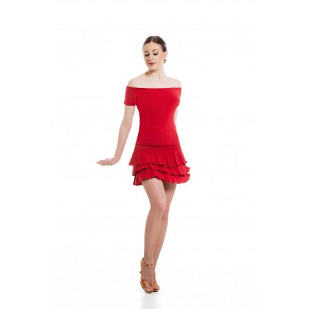 Jupe de danse courte avec volants en trois paliers différents coloris - SHEDDO