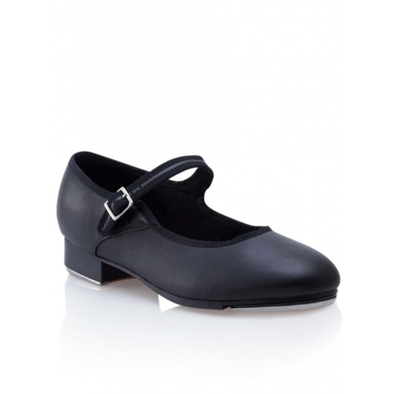 Mary Jane - Chaussure de claquette pour femme en cuir noir - Capezio
