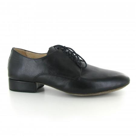 Zephir - Chaussures de danse de salon en cuir noir pour hommes - Merlet