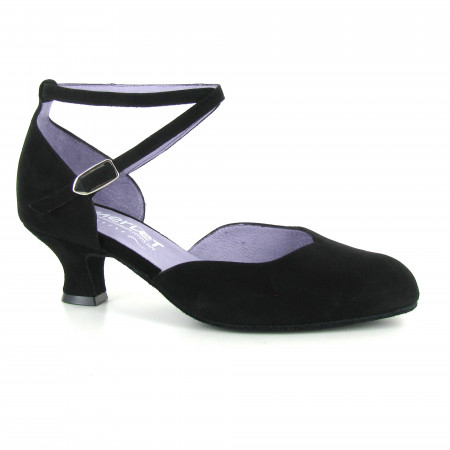 Badras - Chaussures de danse fermée en nubuck noir - Merlet