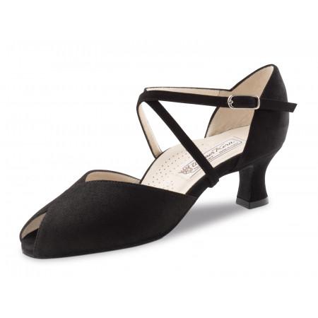 Lotte Werner Kern - Chaussure de danse ouverte à bride croisée en nubuck noir