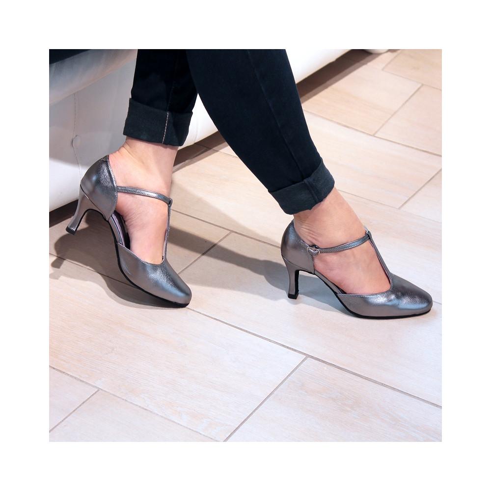 Chaussures de danse en cuir métalisé Nina - Merlet