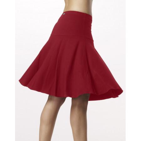 Jupe danses latines matières naturelles en viscose rouge  - Ventura - Temps Danse