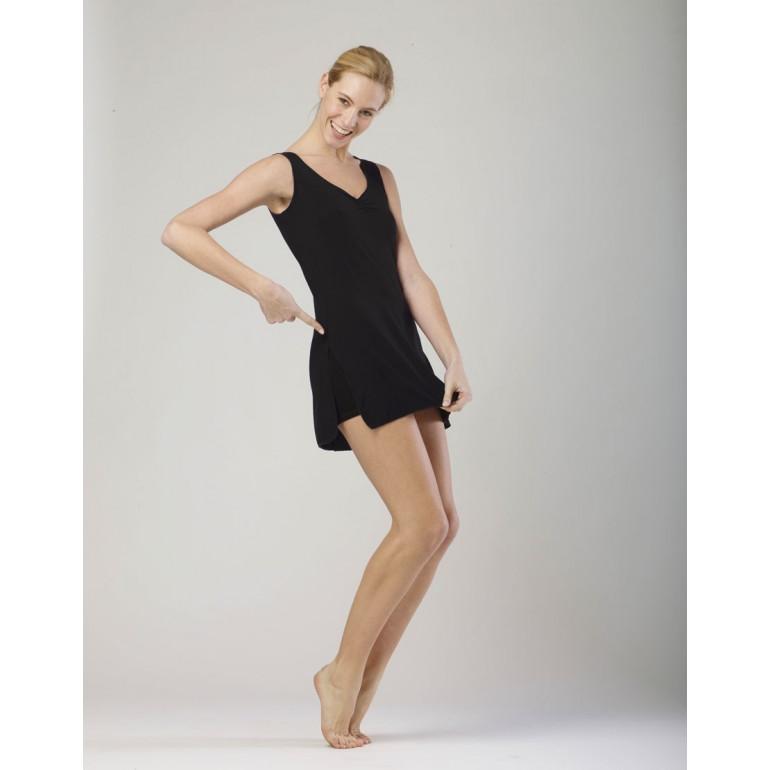 Robe tunique couleur noir pour la danse en viscose - Violine - Temps Danse