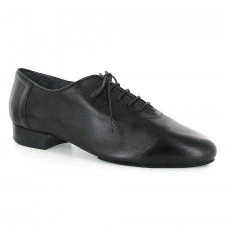 BL10 - Rosso Latino - Chaussures de danse en cuir noir