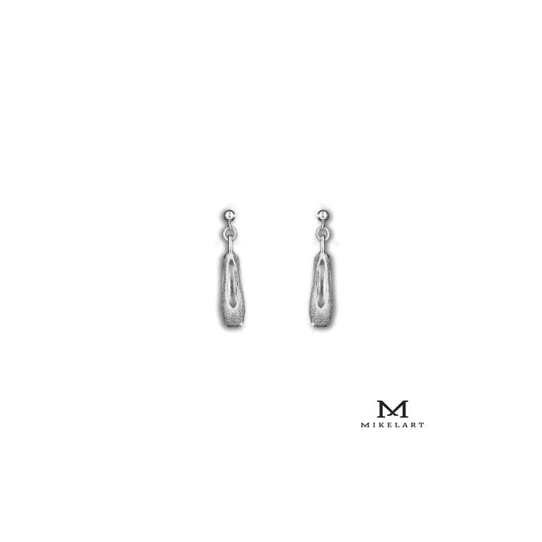 """Boucles d'oreille """"pointe"""" en argent - Mikelart"""