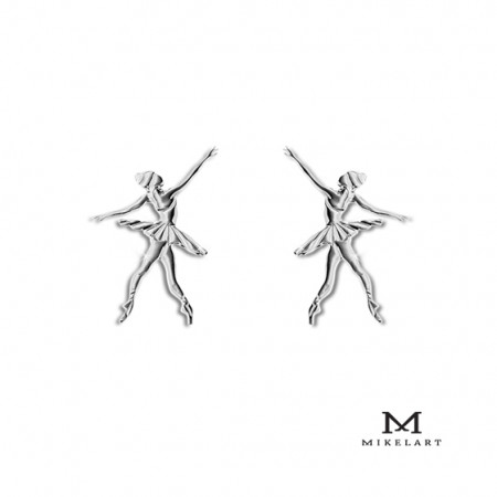 Boucle d'oreille danseuse classique - Mikelart