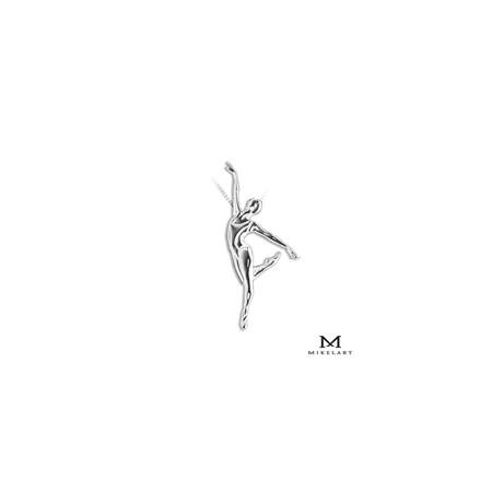 """Collier danseuse classique """"Penché"""" en argent - Mikelart"""
