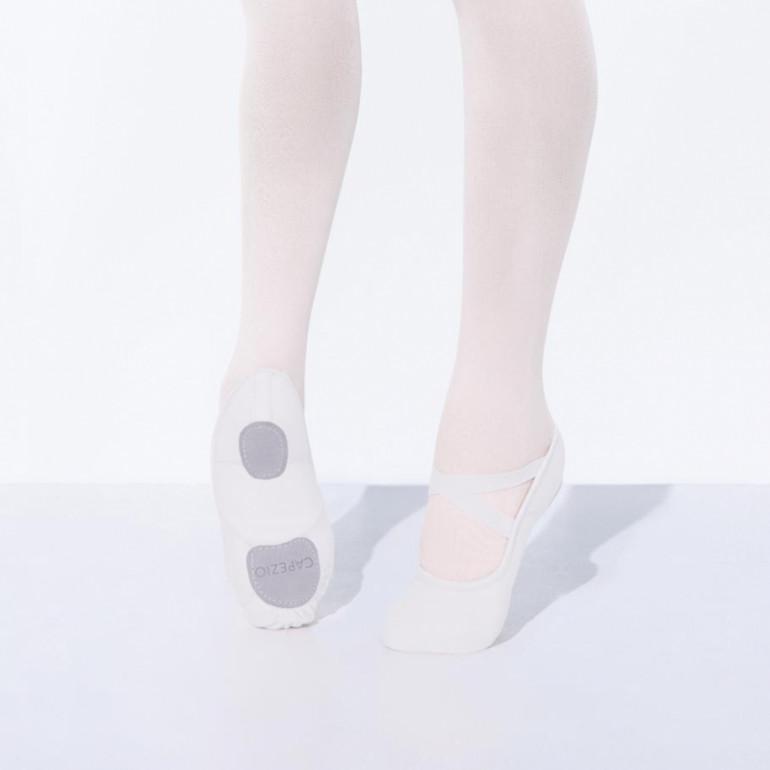 La célèbre demi-pointe Hanami™ pour adulte en toile blanche extensible et bi-semelle - Capezio