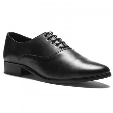 Chaussure de danse de salon en cuir noir pour garçon et homme de la marque Rumpf