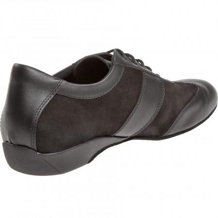 123 Diamant - Sneakers de danse homme pour pieds larges en cuir à semelle suede