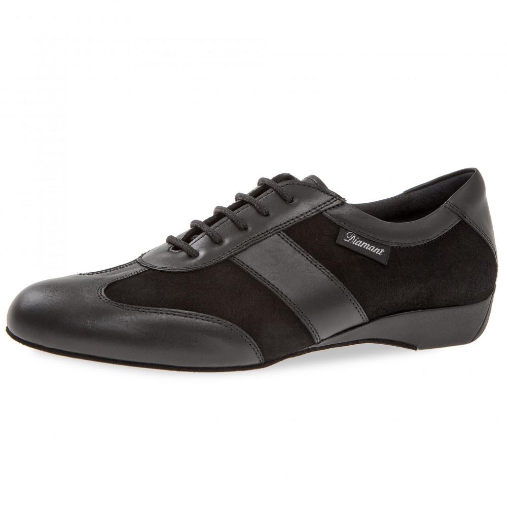 123 Diamant Sneakers de danse homme pour pieds larges en cuir à semelle suede