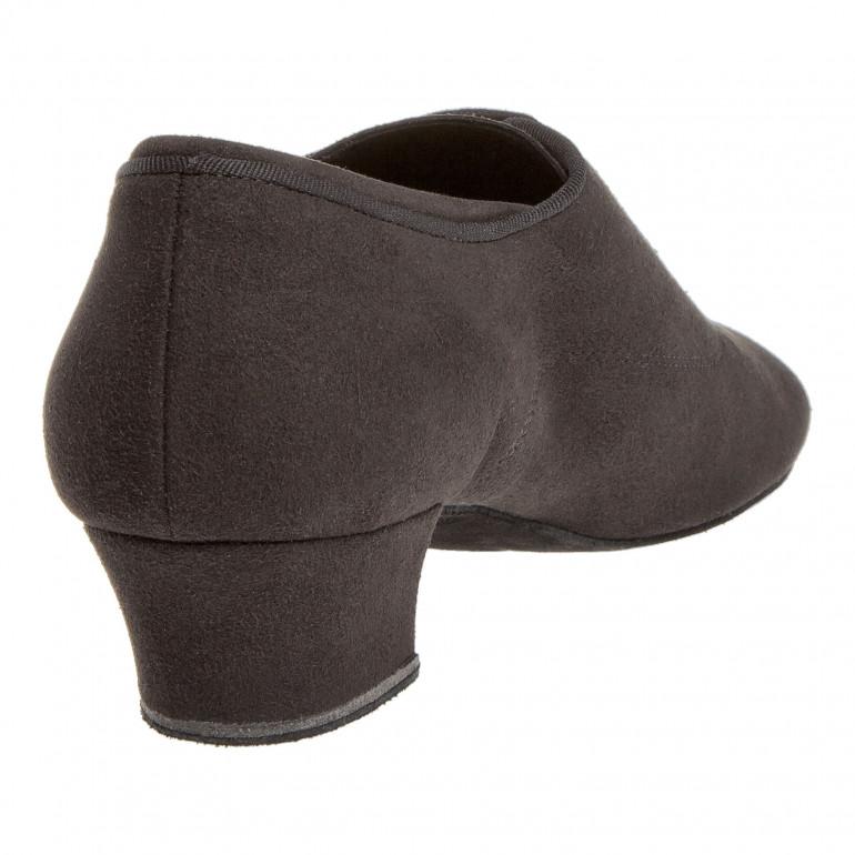140 Diamant - Chaussures de danse semelle confort en microfibre noire à talon 3,7cm