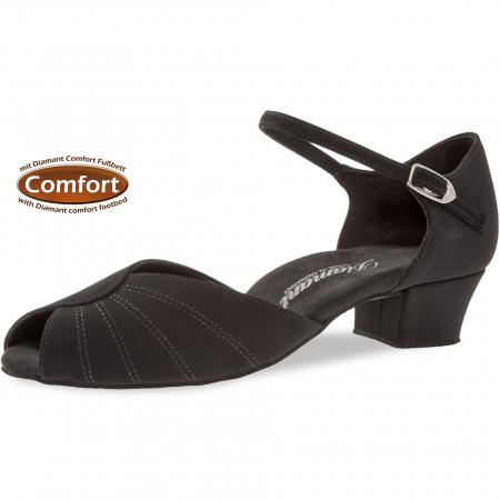 001 Diamant - Chaussures de danse femme semelle confort avec talon carré 3,5cm