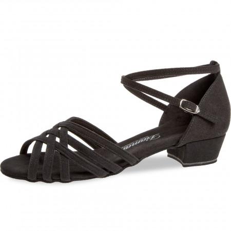 008 Diamant - Chaussures de danse noires à lanières avec talon bloc de 2,8cm