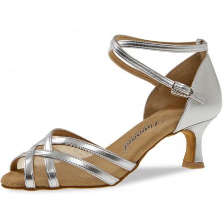 035 Diamant - Chaussures de danse en synthétique argent et résille avec talon 5cm