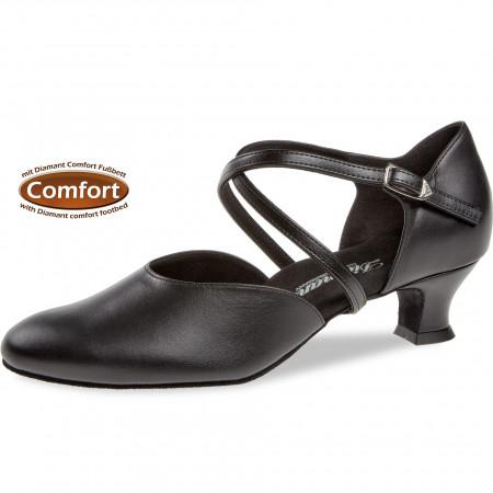 148 Diamant - Chaussures de danse en cuir pieds larges, semelle confort à talons 4,2cm