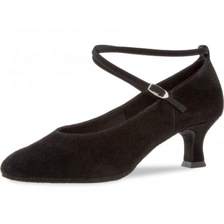075 Diamant - Chaussures de danse standard en nubuck noir à talons de 5 cm