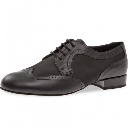 089 Diamant - Chaussures de danse pieds extra larges en cuir et nubuck, talons 2cm