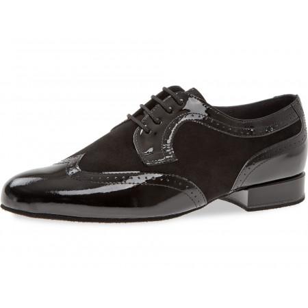089 Diamant - Chaussures de danse cou-de-pied fort en verni et nubuck, talons 2cm