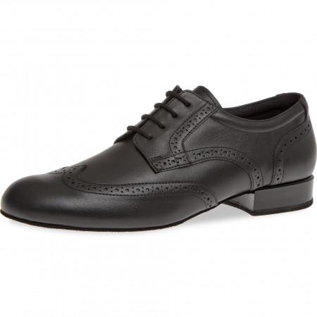 099 Diamant - Chaussures de danse pour pieds larges en cuir noir à talons 2cm