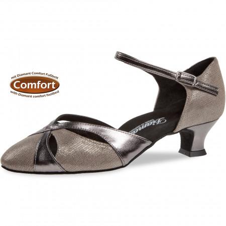 142 Diamant - Chaussures de danse bronze pieds larges, semelle confort et talon 4,2cm