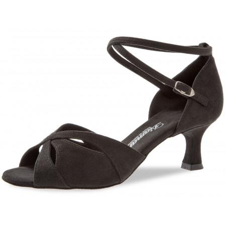 141 Diamant - Chaussures de danse en microfibre noire à talons évasé de 5cm