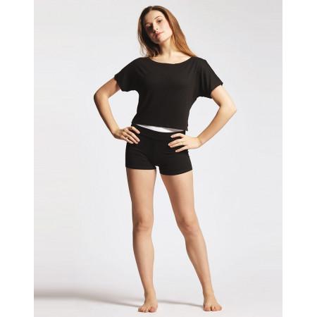 T-shirt court de danse en viscose noire - Agile - TempsDanse