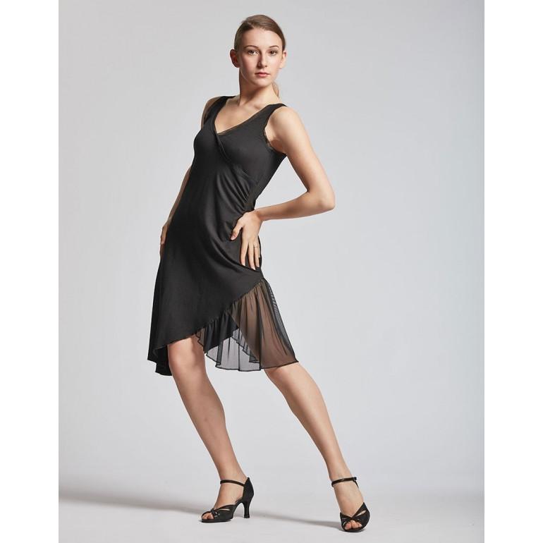 Robe de danse asymétrique noire - Dalia - TempsDanse