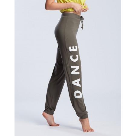 """Pantalon kaki clair de danse unisex logo """" DANCE """" - Affetto Never - TempsDanse"""