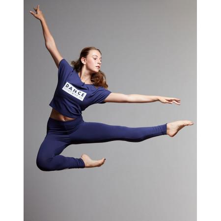 """T-shirt pour de danse en viscose noche à logo """" DANCE NEVER GIVE UP """" - AgileJrNever - TempsDanse"""