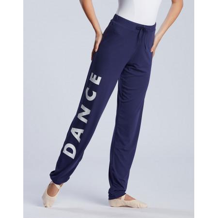 """Pantalon de danse mi-large pour enfant logo """" DANCE """" en viscose noche - Affetto Jr Never - TempsDanse"""