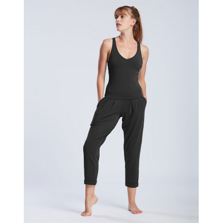 Pantalon à longueur 7/8ièmme de danse en viscose noire - Atlantis - TempsDanse