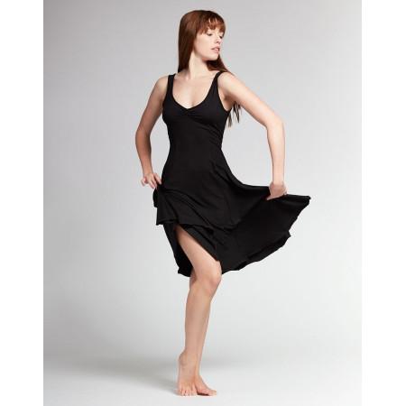 Robe de danse de salon noir en viscose - Veritable - Temps Danse