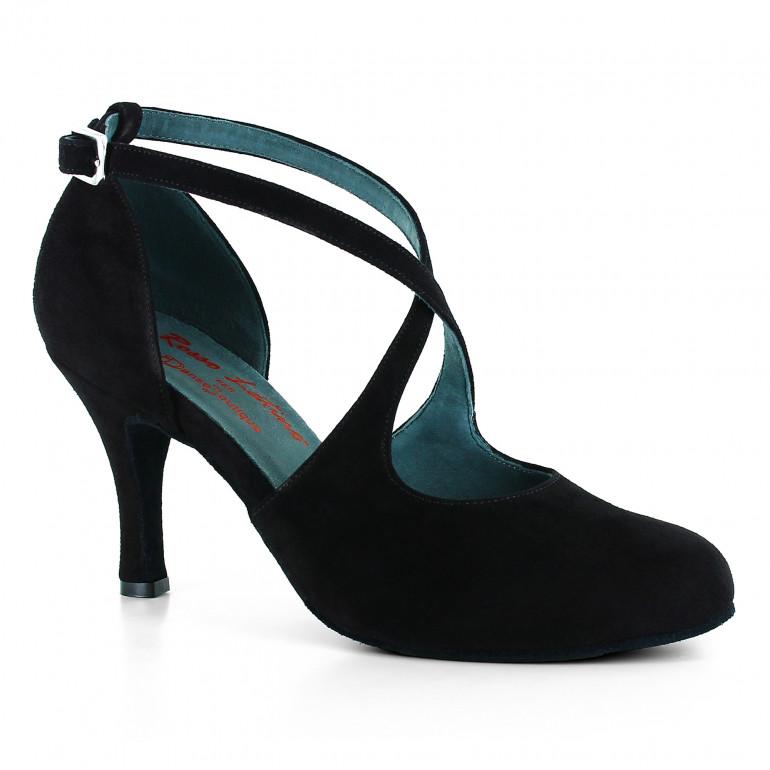 DB2 - Chaussures de danse fermées en nubuck noir - Rosso Latino