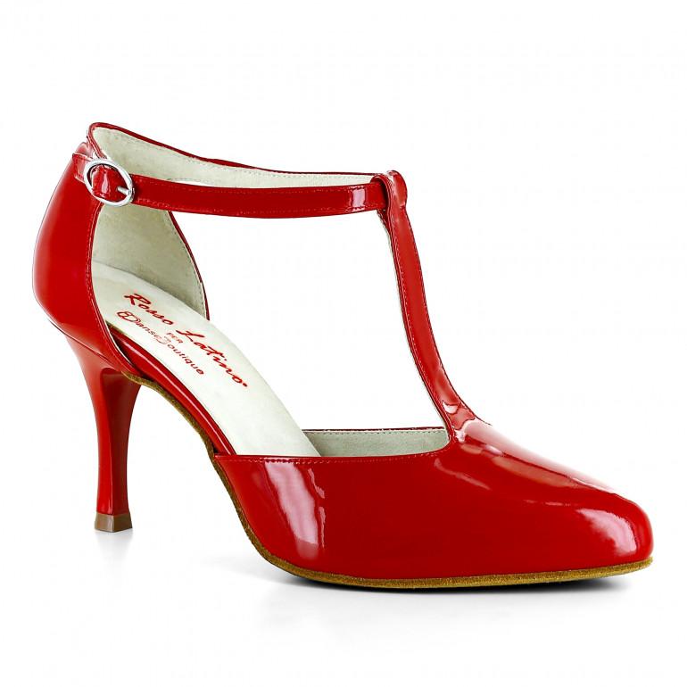 DB4 - Chaussure de danse fermée rouge - Rosso Latino