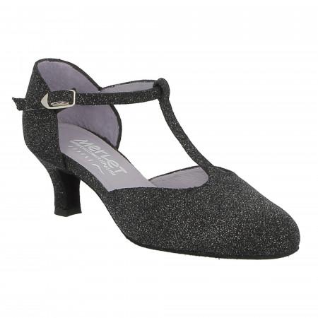 Chaussure de danse Merlet Adelina en cuir argent light pour femme