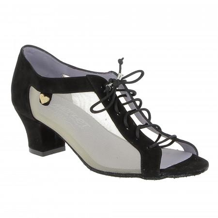 Chaussure de danse confort avec cuir nubuck et résille - Parma Merlet