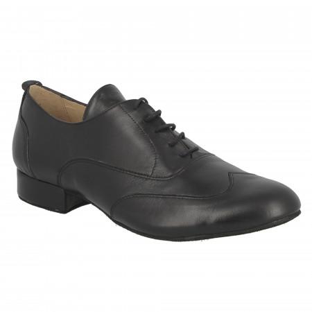 Chaussure de danse de salon en cuir noir - Wilo Merlet