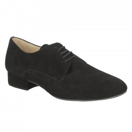 Chaussure de danse de salon en nubuck noir pour homme- Zephir Merlet