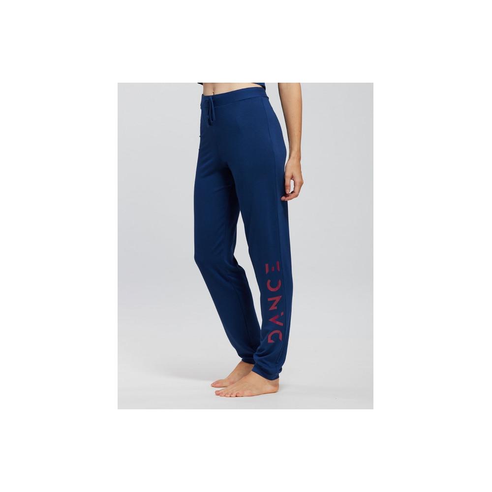 """Pantalon de danse bleu unisexe avec imprimé """"DANCE"""" - Affetto Dance"""