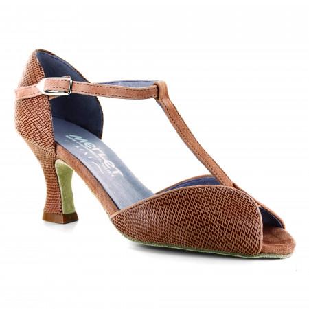 Chaussure de danse en nubuck et cuir effet python - Jade
